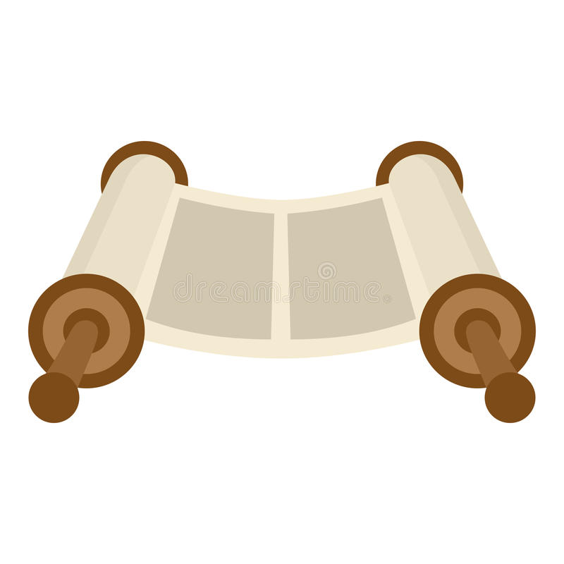 Torah Scroll Flat Icon Isolated on White royalty free illustration