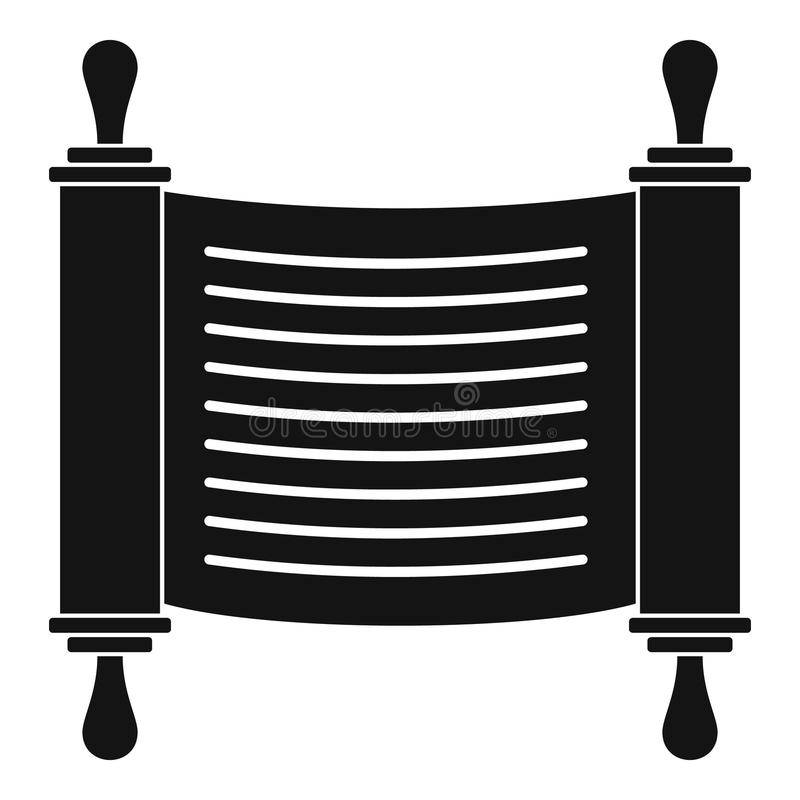 Torah scroll icon, simple style. Torah scroll icon. Simple illustration of torah scroll icon for web design isolated on white background vector illustration