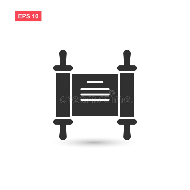 Torah scroll icon vector design isolated 3 stock illustration