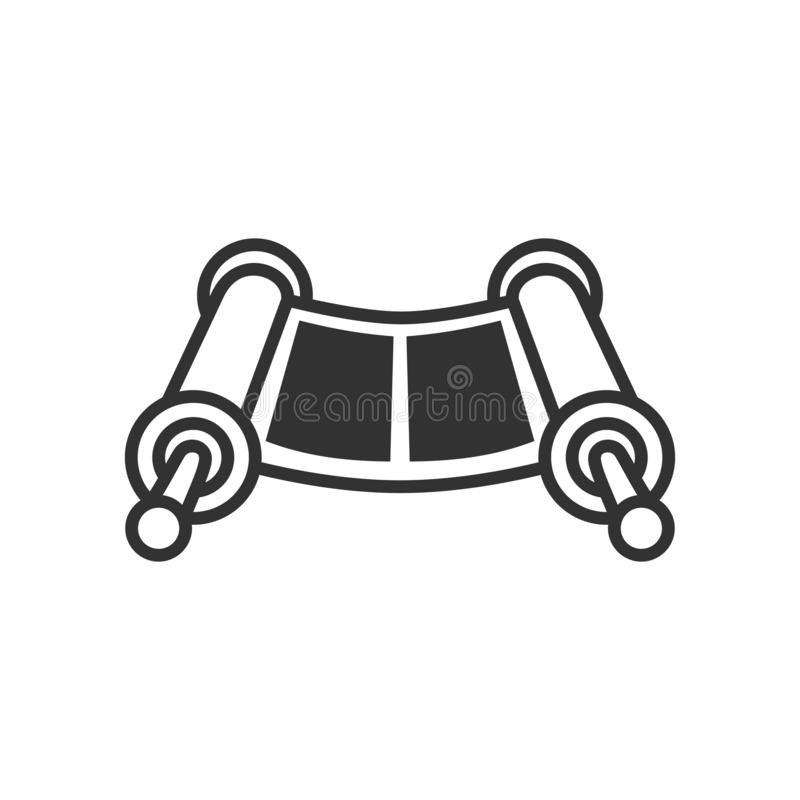 Torah Scroll Outline Flat Icon on White royalty free illustration