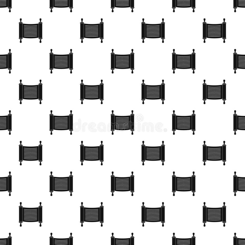 Torah scroll pattern seamless vector. Repeat geometric for any web design vector illustration