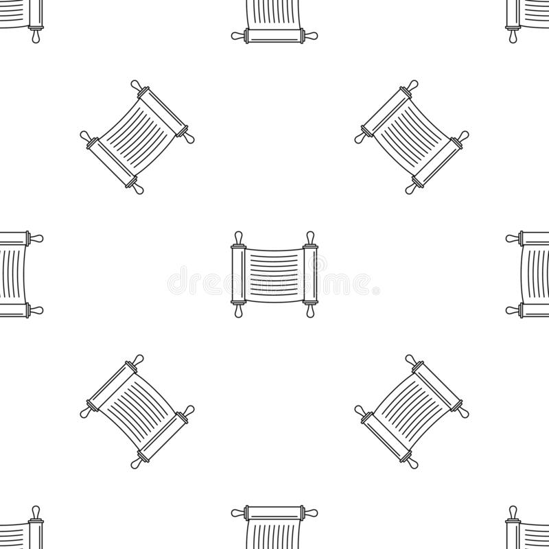 Torah scroll pattern seamless vector royalty free illustration
