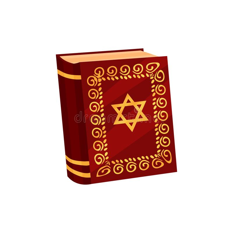 Torah on white background. Happy Hanukkah concept. stock illustration