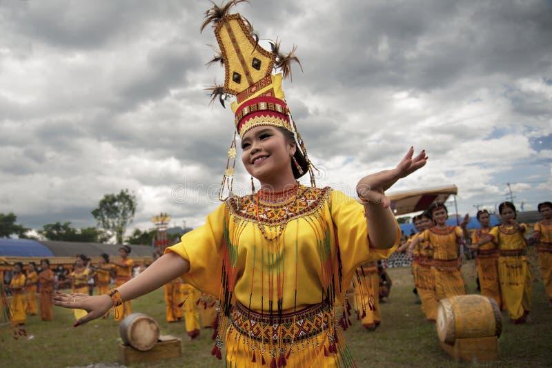 Toraja dansare royaltyfri bild