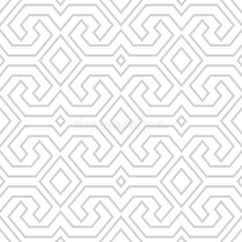 Toraja för sömlös tappning stam- modell Etnisk vektortextur S royaltyfri illustrationer