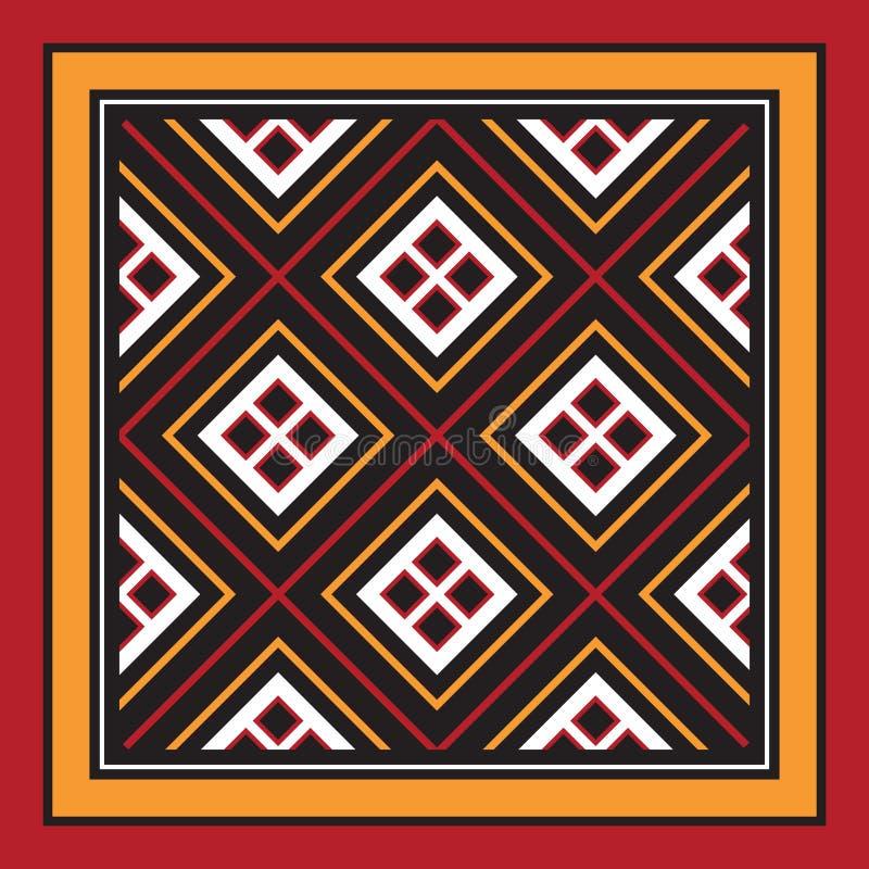 Toraja Pattern Pa`re`po` Sangbua Wood Carving Stock Vector