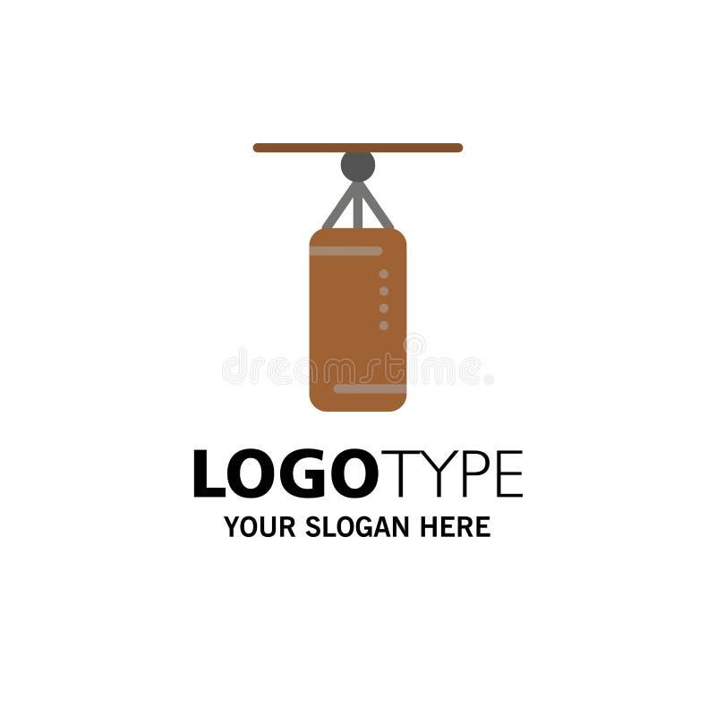 Torba, boks, poncz torba, Uderza pięścią Biznesowego logo szablon p?aski kolor royalty ilustracja