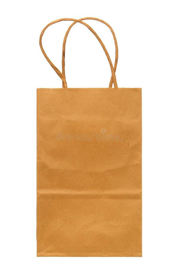 torba brązowy papier odizolowane white zdjęcia royalty free