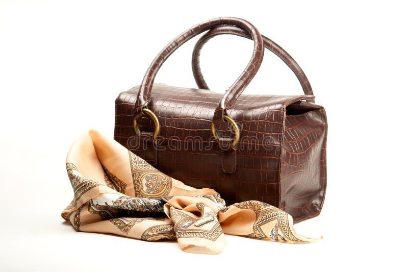 torba brown szalik zdjęcia stock