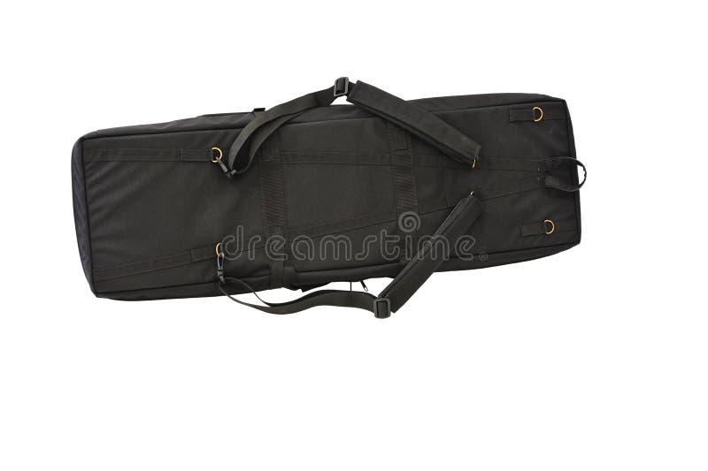 Torba dla kryje niesie submachine pistolet odosobniony zdjęcie stock