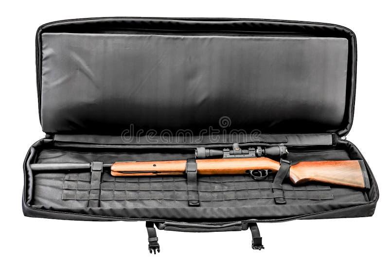 Torba dla kryje niesie submachine pistolet odosobniony zdjęcie royalty free