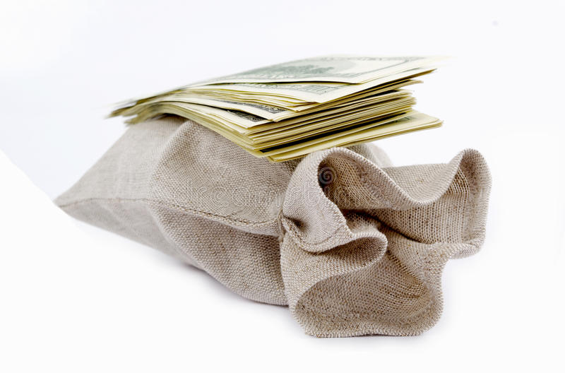 torba dolary obraz stock