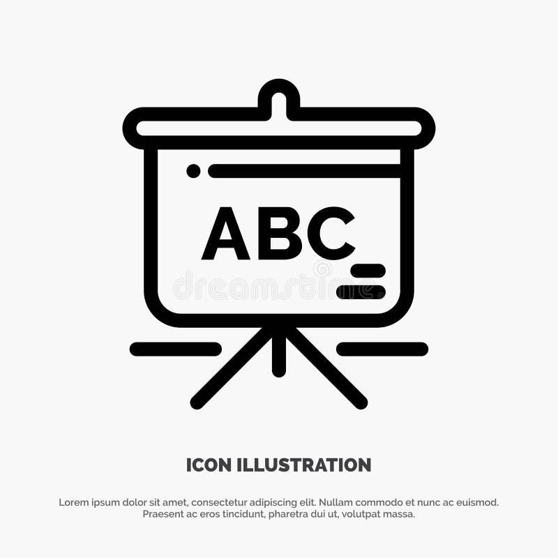 Torba, edukacja, Schoolbag ikony Kreskowy wektor royalty ilustracja