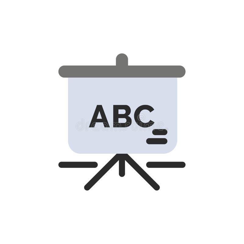 Torba, edukacja, Schoolbag koloru Płaska ikona Wektorowy ikona sztandaru szablon royalty ilustracja
