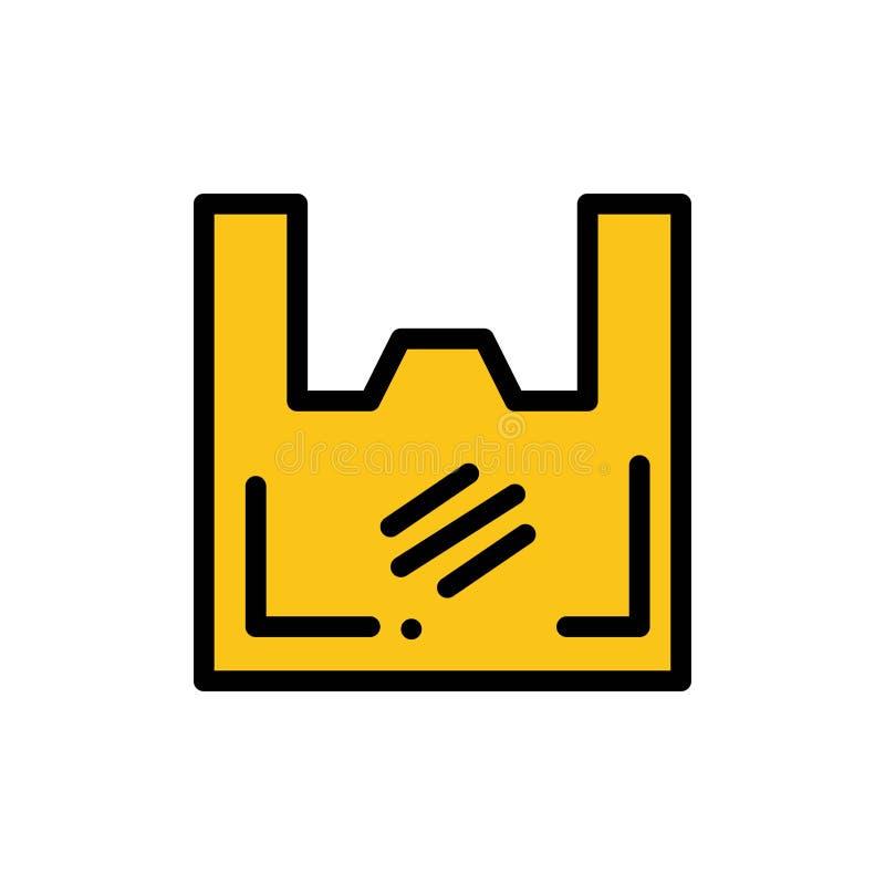 Torba, ekologia, klingeryt, kupujący, supermarketa koloru Płaska ikona Wektorowy ikona sztandaru szablon ilustracja wektor