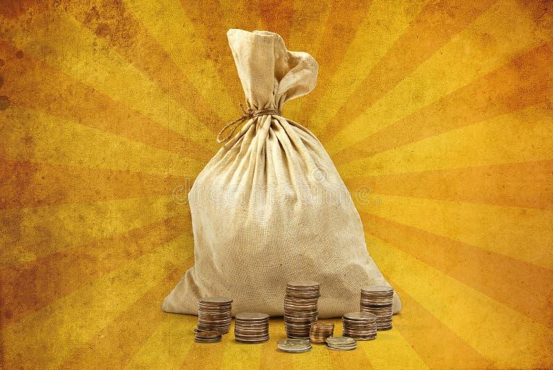 torba folujący pieniądze obrazy royalty free