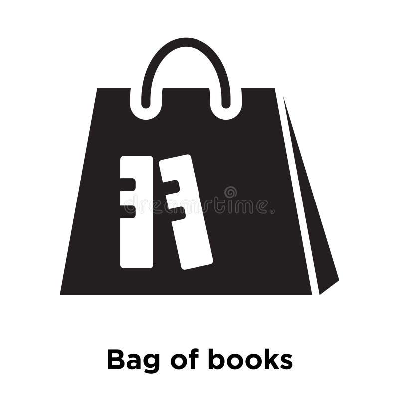 Torba książki ikony wektor odizolowywający na białym tle, logo conc ilustracja wektor