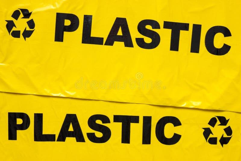 Torba na śmiecie dla recyclable klingerytu fotografia stock