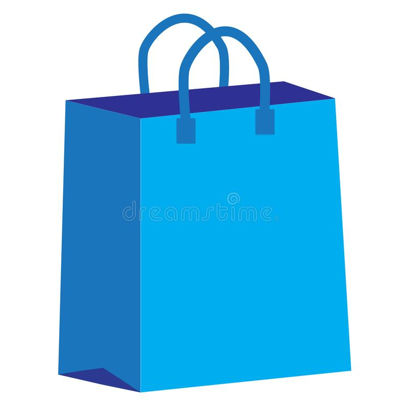 Torba na zakupy ikona na białym tle Mieszkanie styl torby na zakupy ikona dla twój strona internetowa projekta, logo, app, UI tor ilustracji