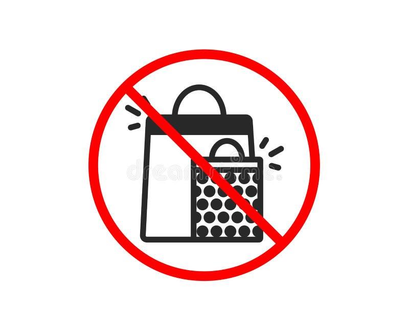 Torba Na Zakupy ikona Sprzedaż Marketingowy symbol wektor ilustracji