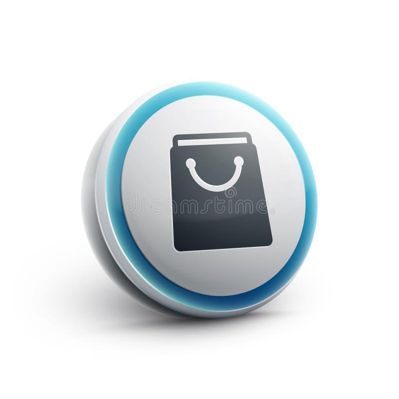 Torba na zakupy sieci ikona ilustracji