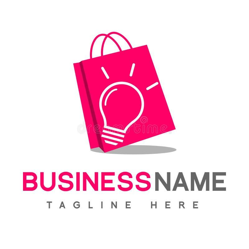Torba Na Zakupy Wektorowy loga projekt Biznesowa pojęcie ikona royalty ilustracja