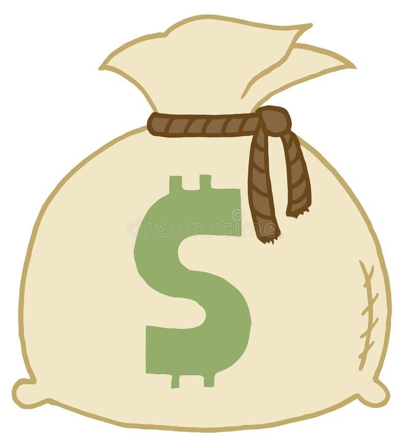 torba pieniądze ilustracja wektor