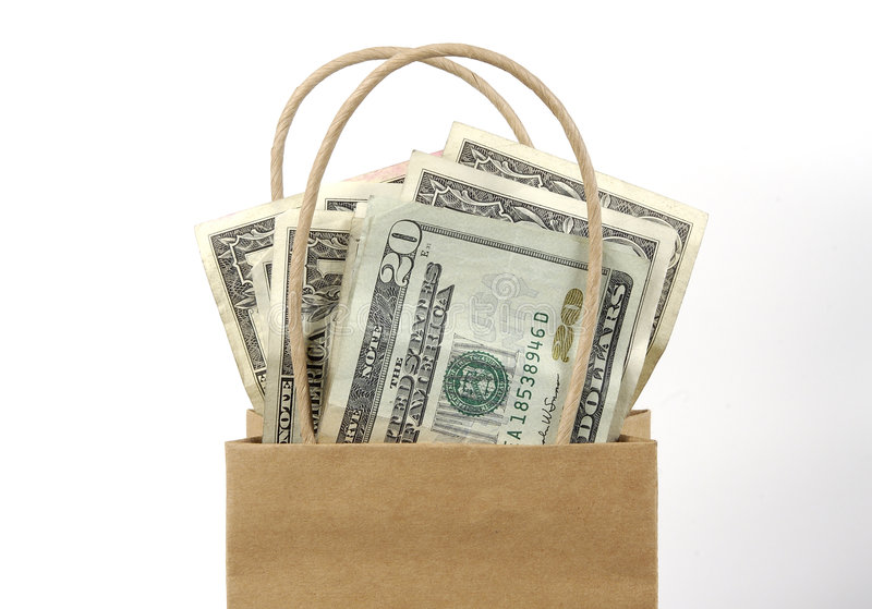 Download Torba pieniędzy zdjęcie stock. Obraz złożonej z koszty, pieniądze - 42728