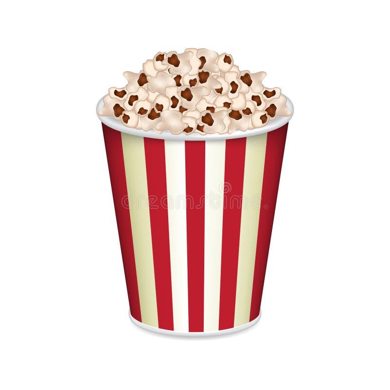 torba popcornu ilustracji