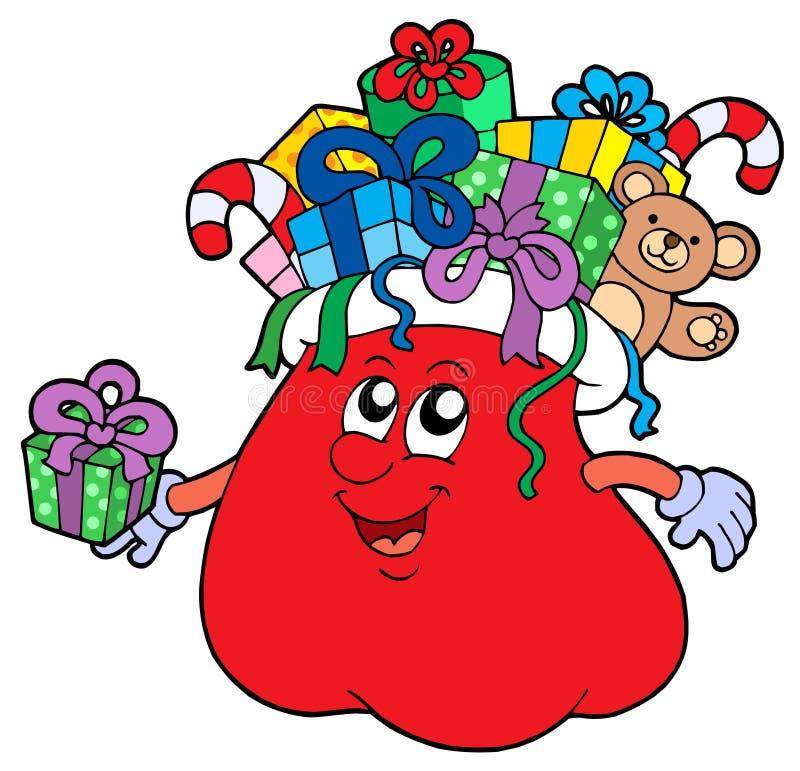 torba prezenty odosobneni Santas royalty ilustracja