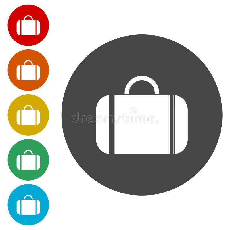 Torba projekta okręgu płaskich nowożytnych wektorowych ikon kolorowy set dla sieci ilustracji