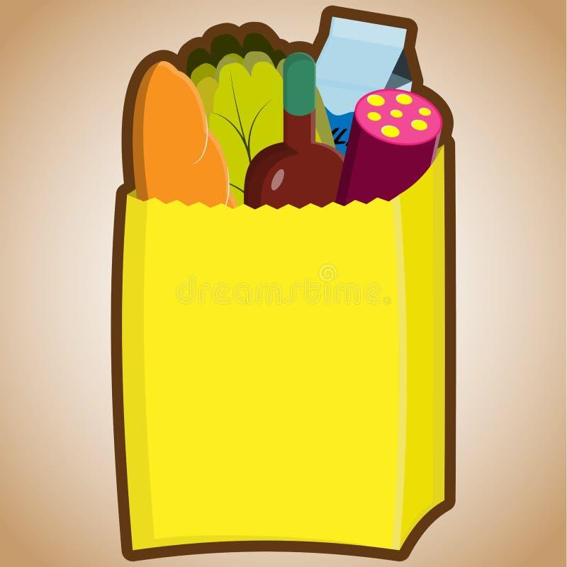 torba sklep spożywczy ilustracja wektor