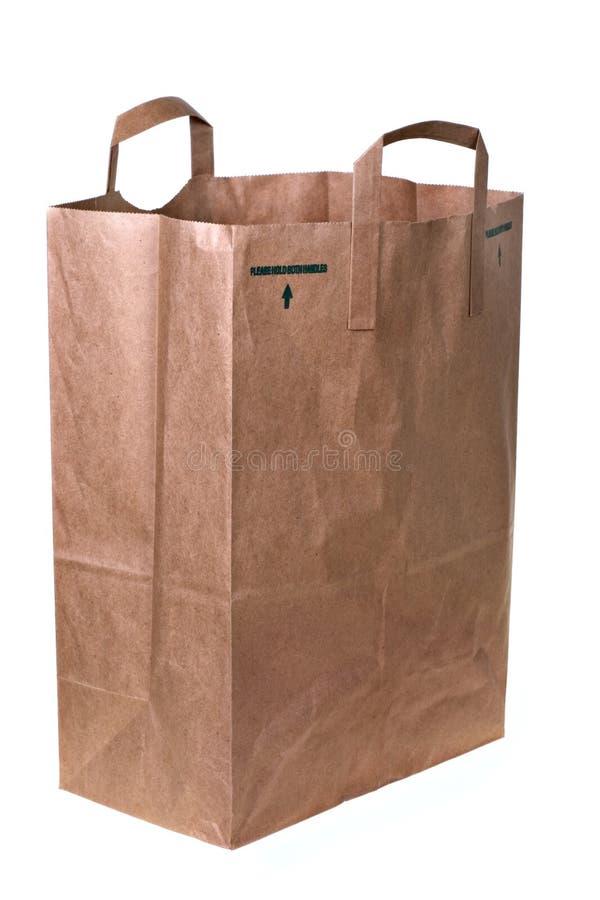 torba sklepu spożywczego, papier obraz stock
