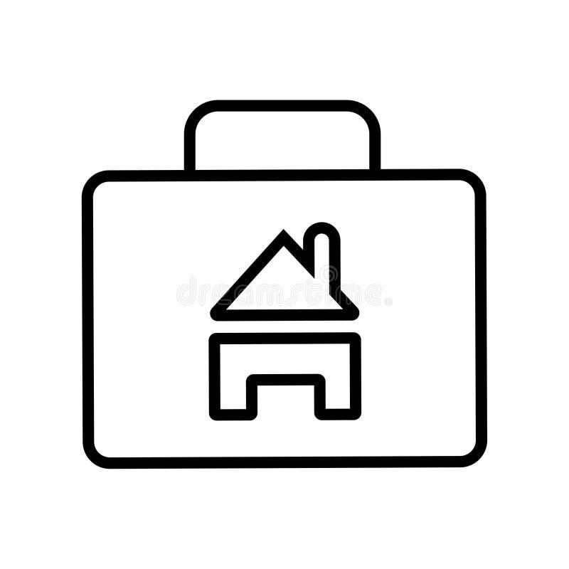 Torba z domową symbol ikoną royalty ilustracja