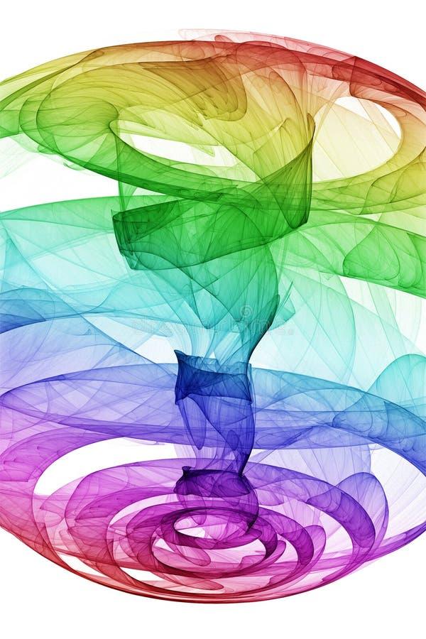 Torbellino del arco iris ilustración del vector