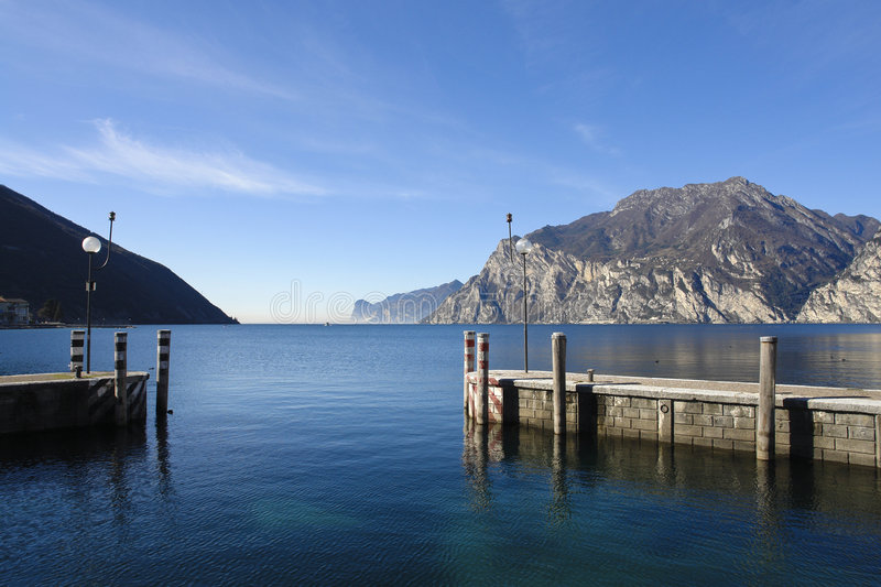 Torbole Harbour royalty free stock photos