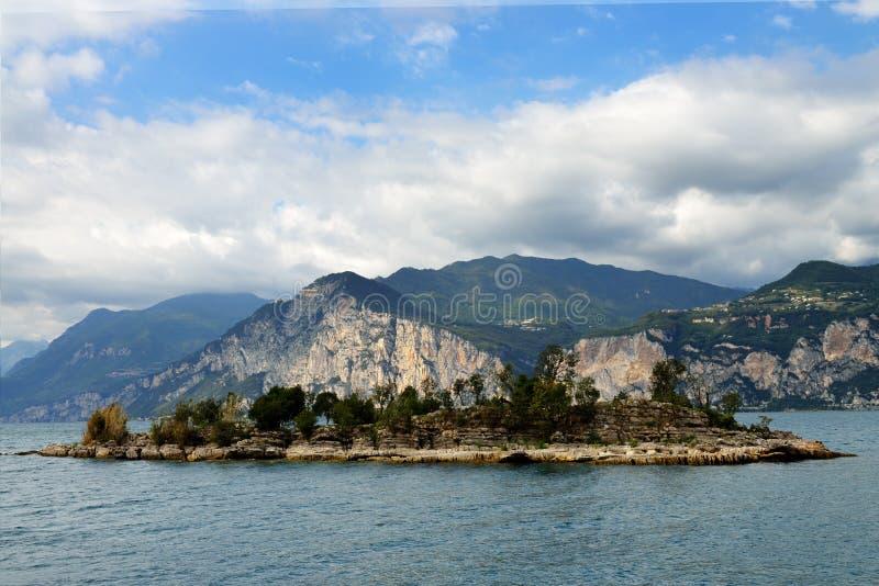 Torbole sulla polizia del lago, Italia fotografia stock