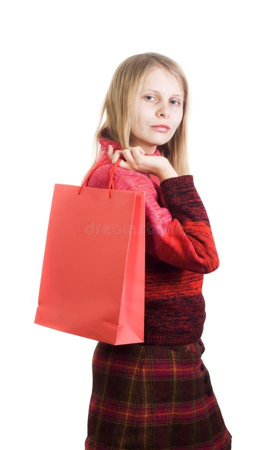 torby śliczna zakupy kobieta zdjęcie stock