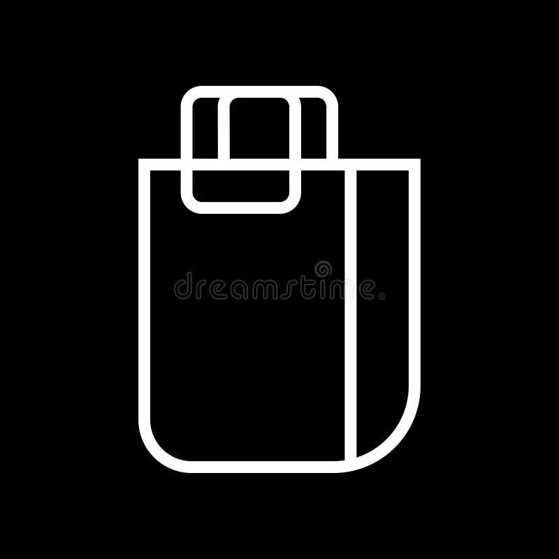 Torby białej liniowej torby symbolu wektorowa ilustracyjna ikona ilustracji