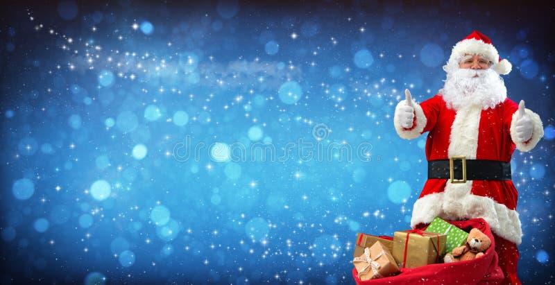 torby Claus pełne teraźniejszość Santa obrazy stock