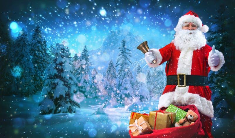 torby Claus pełne teraźniejszość Santa fotografia stock
