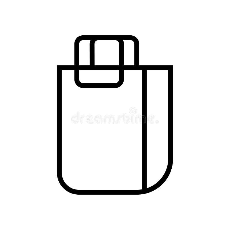 Torby czarnej liniowej torby symbolu wektorowa ilustracyjna ikona ilustracji