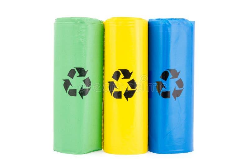Torby dla różnego recyclable śmieci obrazy royalty free