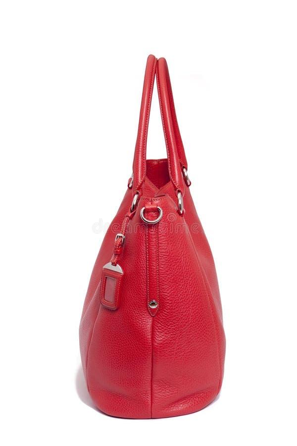 Download Torby Kobieta Rzemienna Czerwona Zdjęcie Stock - Obraz: 12791630