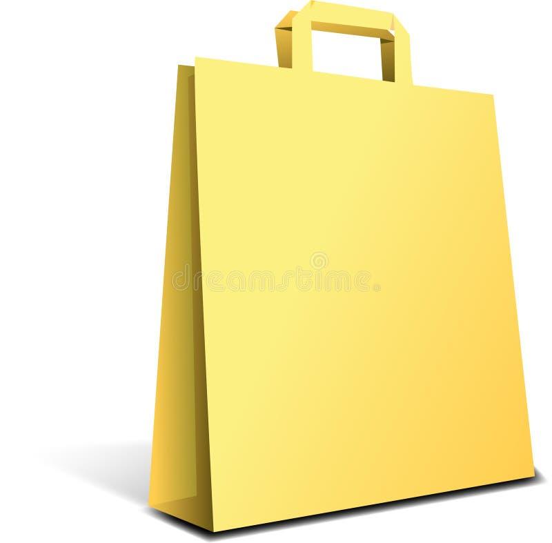 torby kolor żółty ilustracja wektor