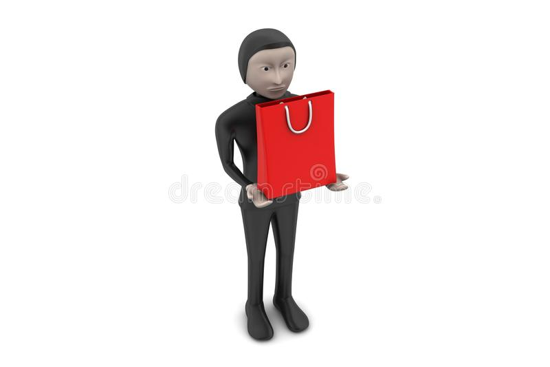 Download Torby mężczyzna zakupy ilustracji. Ilustracja złożonej z klient - 53777551