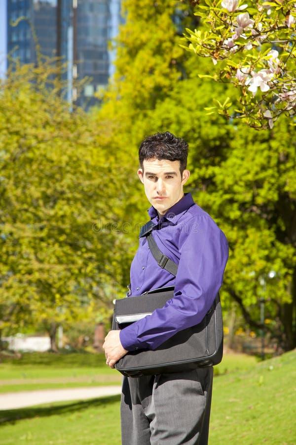 torby mody samiec model zdjęcie stock