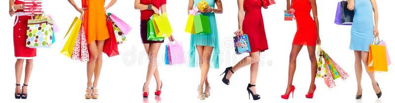 torby na zakupy kobiety zdjęcie royalty free