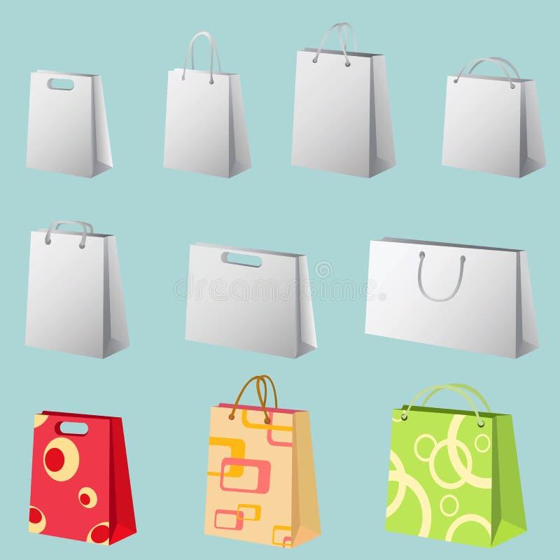 torby na zakupy wektora ilustracji