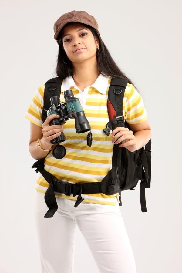 torby obuoczna podróży kobieta fotografia stock
